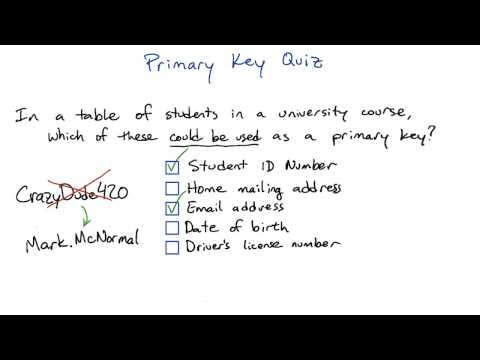 Primary Key - Intro to Relational Databases thumbnail