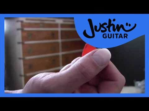 Picks, how to choose 1 and hold it (Guitar Lesson BC-107) Guitar for beginners, Getting started  thumbnail