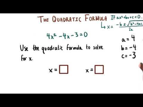 Using the Quadratic Formula - College Algebra thumbnail