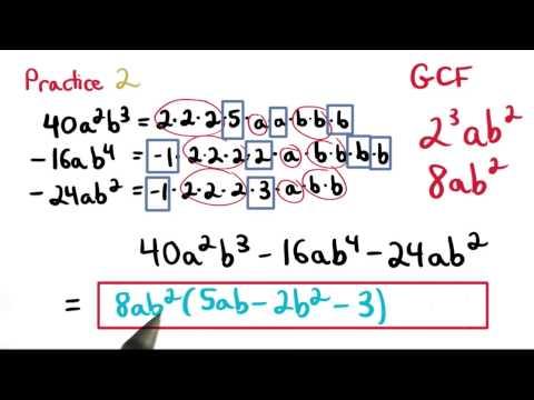 GCF Practice 2 - Visualizing Algebra thumbnail