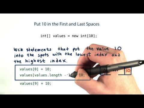 Put 10 in the First and Last Spaces - Intro to Java Programming thumbnail