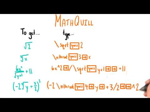 Mathquill - College Algebra thumbnail
