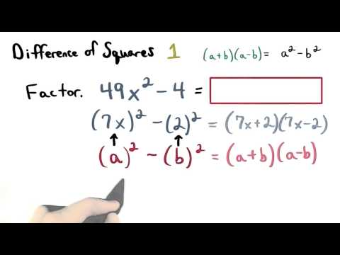 Difference of Squares 1 - Visualizing Algebra thumbnail