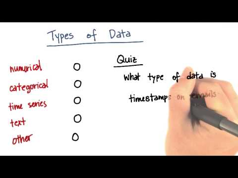 Types of Data Quiz 3 - Intro to Machine Learning thumbnail