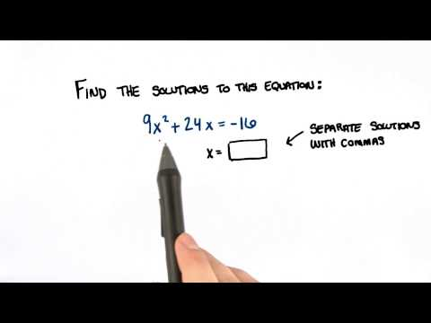 Solve the Quadratic Equation - College Algebra thumbnail