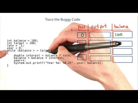 Trace The Buggy Code - Intro to Java Programming thumbnail