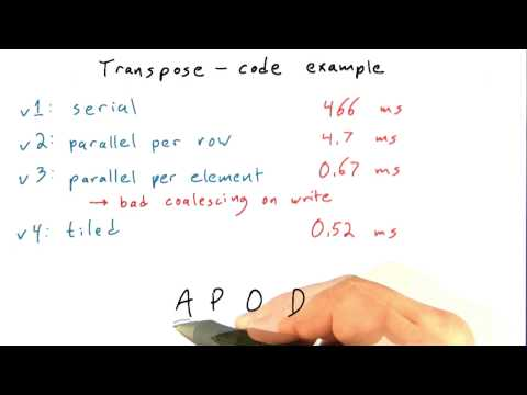 Transpose Code Recap - Intro to Parallel Programming thumbnail
