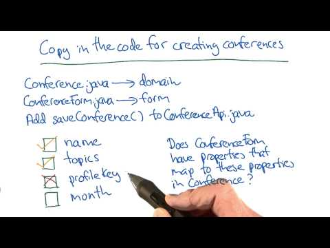 Code for Creating Conferences - Developing Scalable Apps with Java thumbnail
