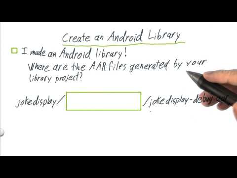 9 q  Create an Android Library thumbnail