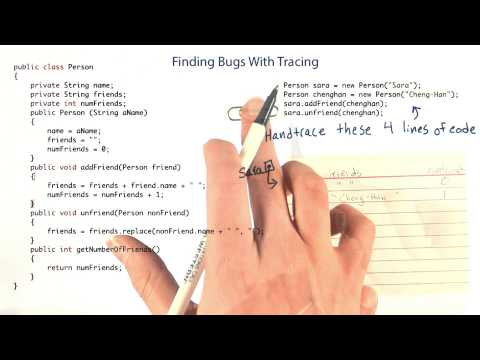 Finding Bugs with Tracing Part 2 - Intro to Java Programming thumbnail