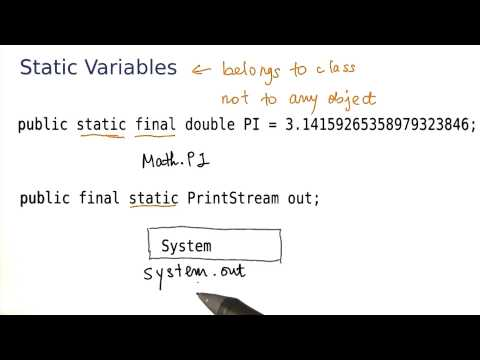 Static Variables - Intro to Java Programming thumbnail