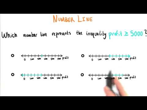 Number Line Inequality - College Algebra thumbnail