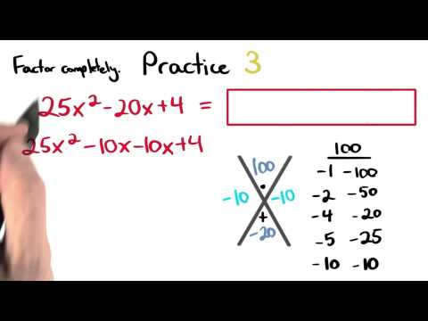 Factoring Practice 3 - Visualizing Algebra thumbnail