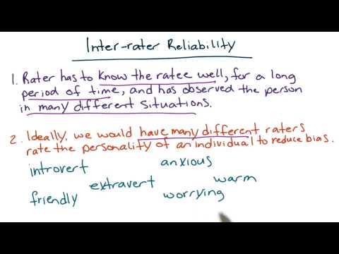 Inter-rater reliability - Intro to Psychology thumbnail