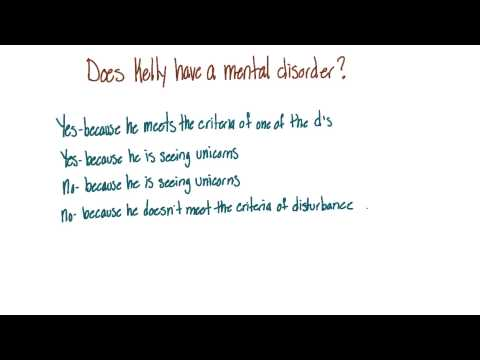 Does Kelly have a mental disorder - Intro to Psychology thumbnail