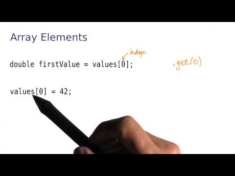Array Elements - Intro to Java Programming thumbnail