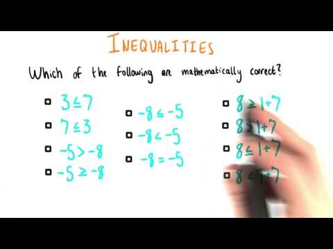 Inequalities Checking - College Algebra thumbnail