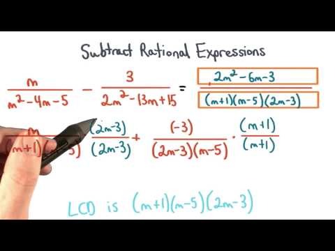 Subtract Rational Expressions Practice 1 - Visualizing Algebra thumbnail