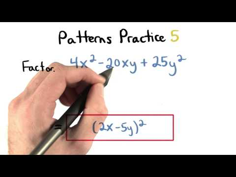 Factoring Patterns Practice 5 - Visualizing Algebra thumbnail